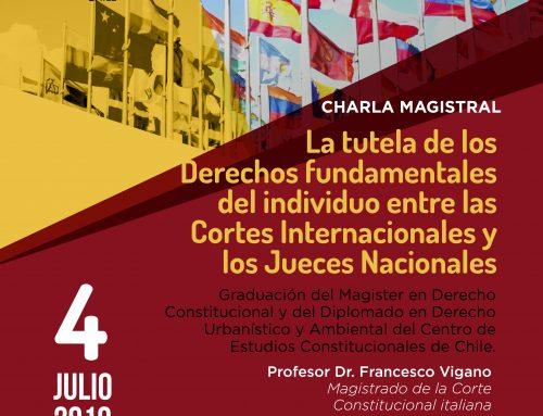 Invitación Charla Magistral «La tutela de los Derechos Fundamentales del individuo entre las Cortes Internacionales y los Jueces Nacionales»
