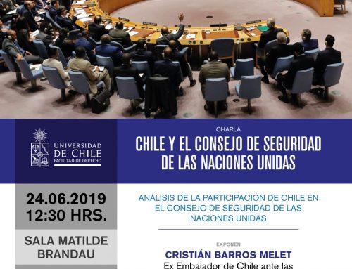 Invitación a charla sobre Chile y el Consejo de Seguridad de las Naciones Unidas