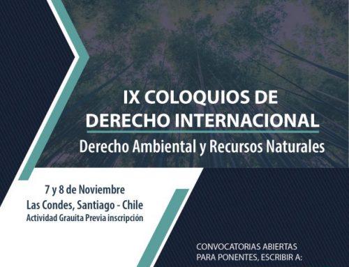 Invitación para asistir a los IX Coloquios de Derecho Internacional de la Facultad de Derecho de la Universidad del Desarrollo