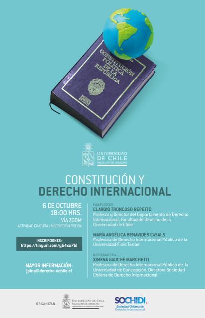 HABLEMOS SOBRE CONSTITUCIÓN Y DERECHO INTERNACIONAL 6 DE OCTUBRE 18.00