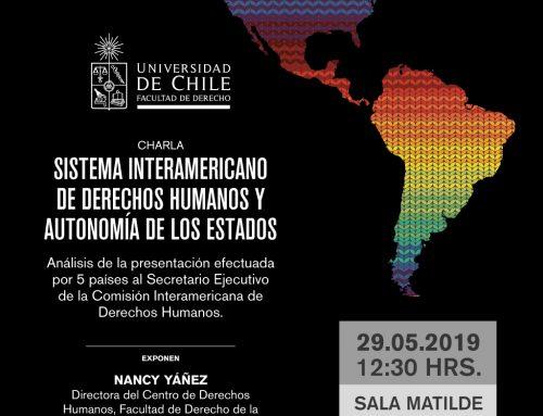 Invitación a charla sobre el Sistema interamericano de derechos humanos y la autonomía de los Estados