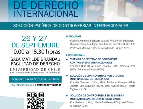 Invitación a las V Jornadas chileno-argentinas de Derecho Internacional