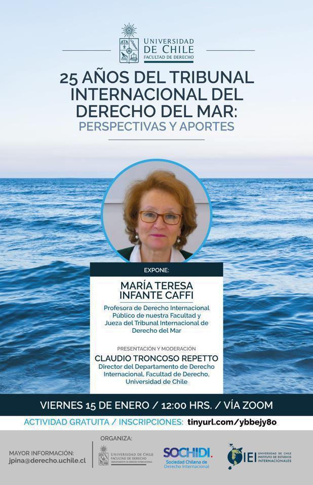 Hoy! 12.00 hrs.Conversación con María Teresa Infante. 25 años del Tribunal Internacional del Derecho del Mar. Perspectivas y Aportes